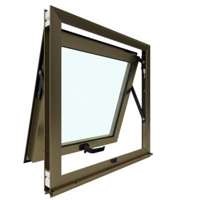 Ventana proyectante monolítica aluminio premium select 60x60 titanio