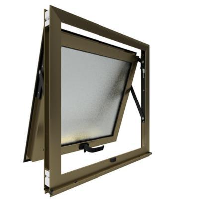 Ventana proyectante monolítica stipolite aluminio premium select 60x60 titanio