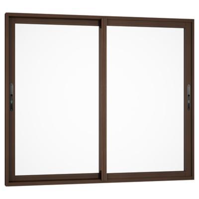 Ventana monolítica aluminio premium select 121x100 madera corredera