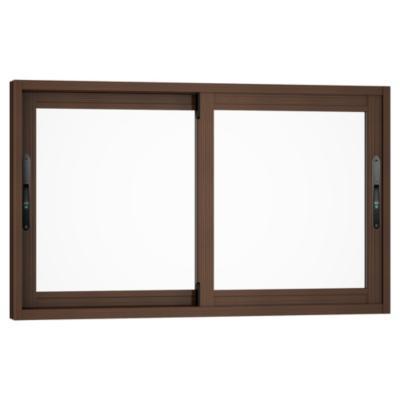 Ventana corredera aluminio premiun 100x60 cm madera