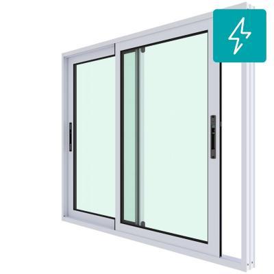 Ventana corredera aluminio premiun termopanel 2 hojas 121x100 cm blanco
