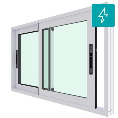 Ventana corredera aluminio premiun termopanel 2 hojas 100x60 cm blanco