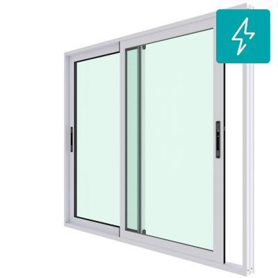 Ventana corredera aluminio premiun termopanel 2 hojas 140x120 cm blanco