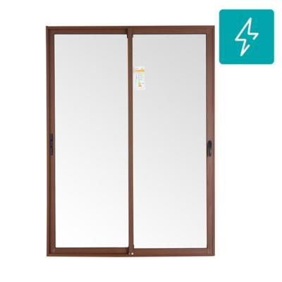 Ventanal termopanel aluminio premium select 150x205 madera corredera