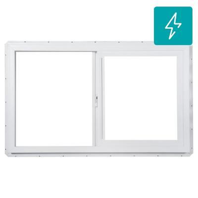 Ventana monolítica PVC americano klassik 100x60 blanco corredera