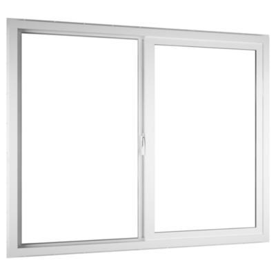 Ventana corredera PVC básico americano 121x100 cm blanco