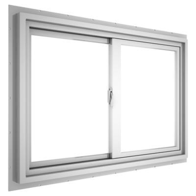 Ventana corredera PVC básico americano 100x60 cm blanco