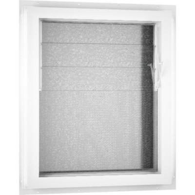 Ventana celosía PVC básico americano 46x55 cm blanco