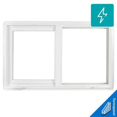 Ventana termopanel PVC americano klassik 100x60 blanco corredera