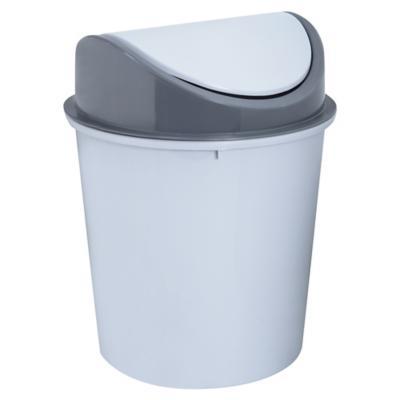 Basurero de Plástico 15 Lts Gris