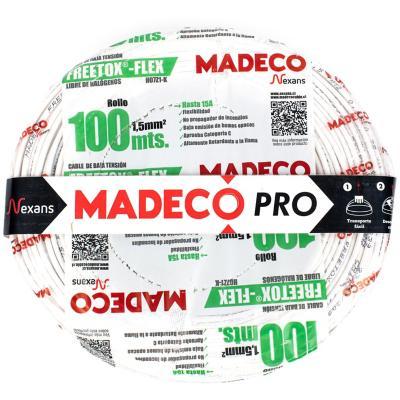 Cable libre de halógenos (H07Z1K) 1,5mm2 100 Blanco