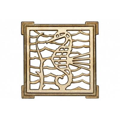 Rejilla ventilación bronce 10x10 cm