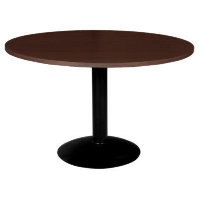 Mesa de oficina redonda 75x80x80 cm chocolate