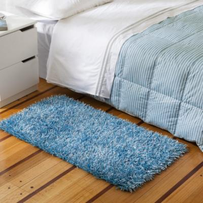 Bajada de cama shaggy visco 60x110 cm azul