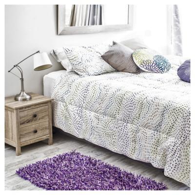 Bajada de cama shaggy visco 60x110 cm morado