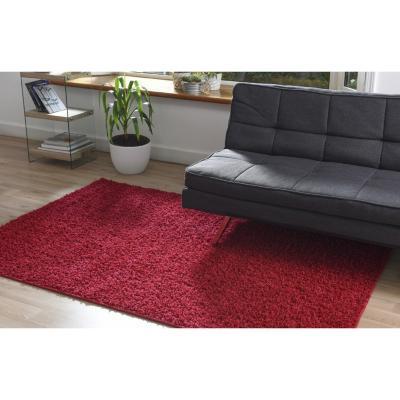 Alfombra shaggy conrad 133x200 cm rojo