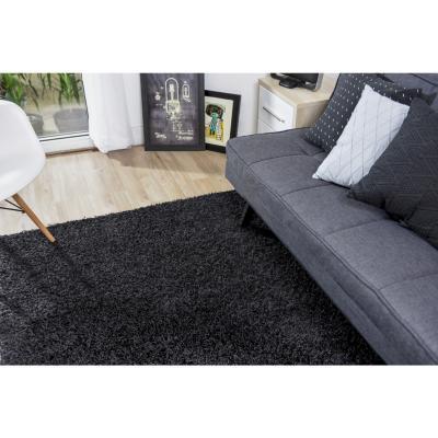 Alfombra shaggy conrad 133x200 cm negro