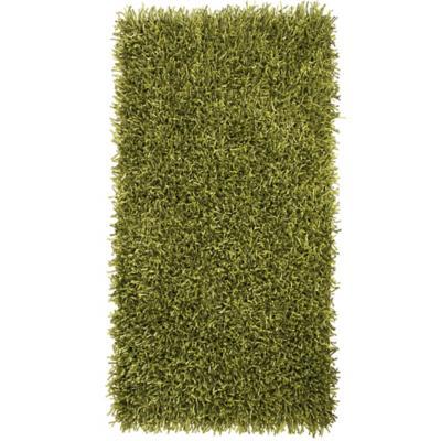 Bajada de cama shaggy visco 60x110 cm verde