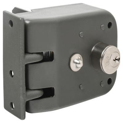 Cerradura corredera derecha gris