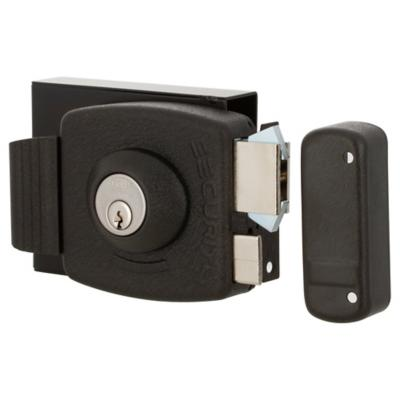 Cerradura sobreponer antipalanca Security negra