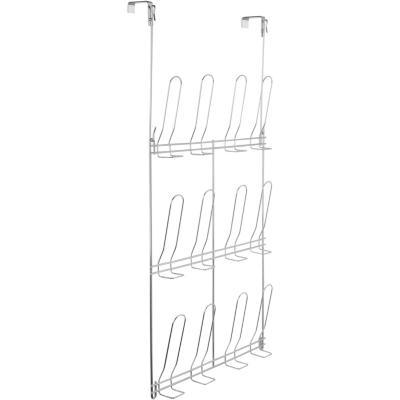 Zapatera para puerta 6 pares metal Gris4.5x70x40cm