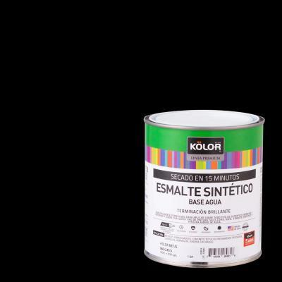 Esmalte Metales Brillante 15 minutos 1/4 galón Negro
