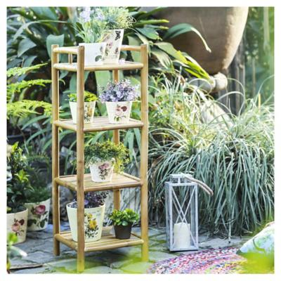 Repisa bambú 33x33x97 cm