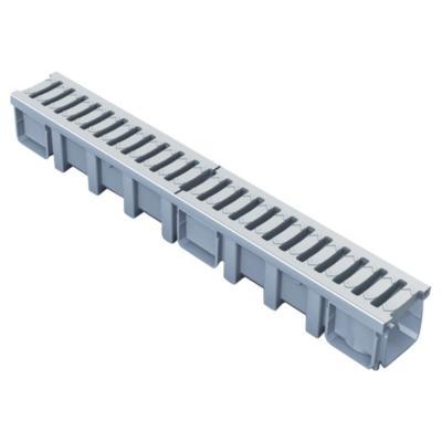 Set canaleta peatonal 13,6x100x11,5 cm gris