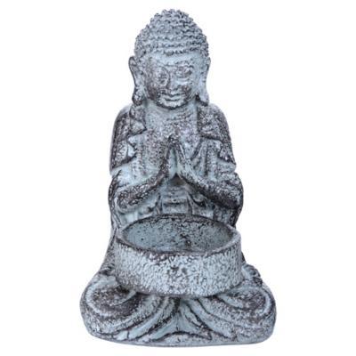Buda portavela decorativo 13,5x8,2 cm poliresina Variedad de Colores