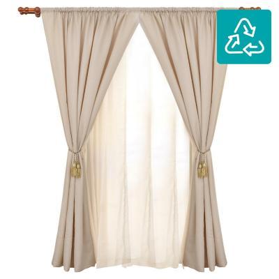 Combo cortina + velo 145x220cm café