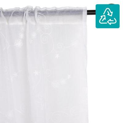 Set de velos bordados 140x230 cm blanco
