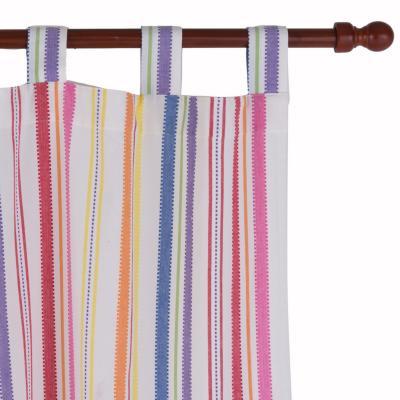 Cortina tela rayas 150x230 cm multicolor