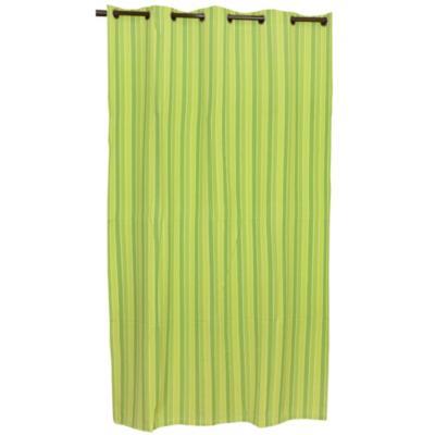 Cortina tela rayas 150x230 cm verde