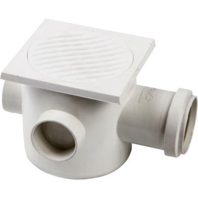 Pileta PVC 100mm x 50mm x 40mm Blanco 1u