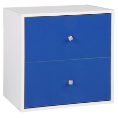 Gabinete 40x40x30 cm blanco - azul