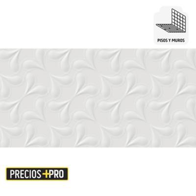 Cerámica blanco 30x60 cm 1,08 m2