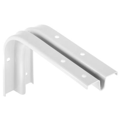 Soporte para repisa metal 15x20 cm blanco
