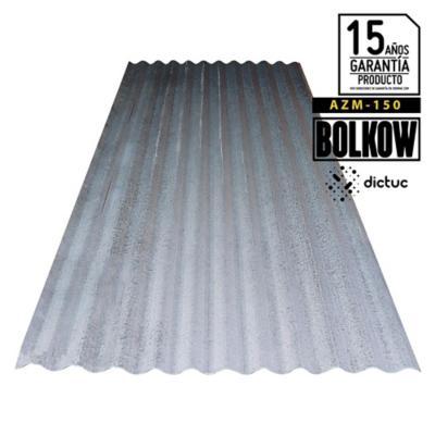 0.4 x 851 x 2000 mm, Plancha Acanalada Onda zinc gris