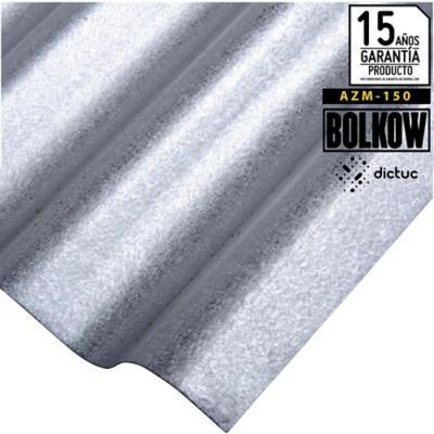 0.4 x 851 x 2500 mm, Plancha Acanalada Onda zinc gris