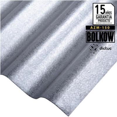 0.4 x 851 x 3000 mm, Plancha Acanalada Onda zinc gris