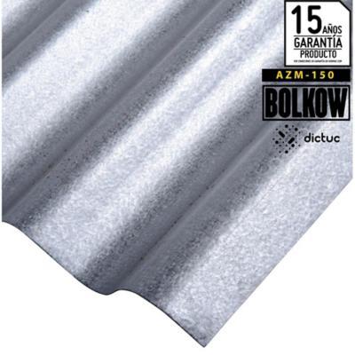 0.4 x 851 x 3660 mm, Plancha Acanalada Onda zinc gris