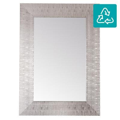 Espejo rectangular 70x50 cm plateado