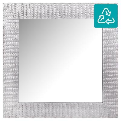 Espejo cuadrado 40x40 cm plateado
