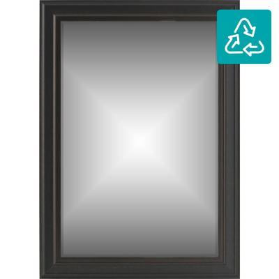 Espejo rectangular 70x50 cm café