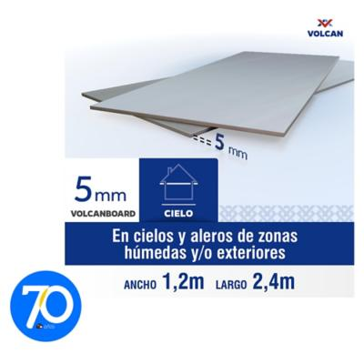 5 mm 120 x240 cm Placa lisa de Volcanboard