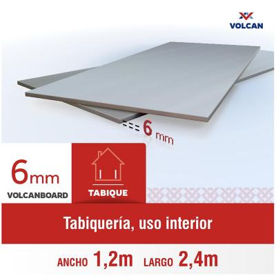 6 mm 120 x240 cm Placa lisa de Volcanboard