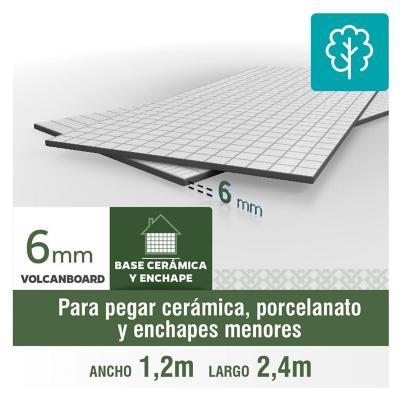 6 mm 120 x 240 cm Plancha Volcanboard base cerámico