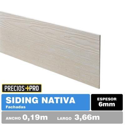 Sinding fibrocemento Nativo Volcanboard 6mm 0.19x3.66 m  Veta profunda