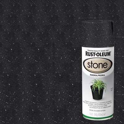 Pintura texturizada en spray piedra 340 ml negro