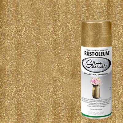 Pintura en spray brillantina 340 ml oro